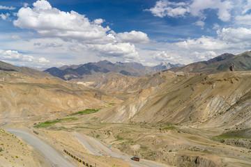 Lamayuru landscape and transportation