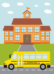 school and bus