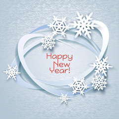 Snowflakes holiday frame