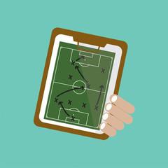 Football Tactic Vector Illustration.