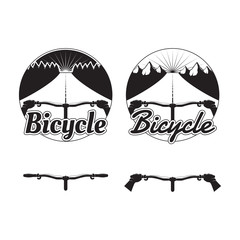 Set of bicycle logos, badges and design elements