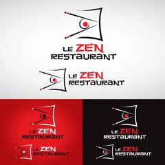 logo restaurant asiatique chinois japonais thaï wok