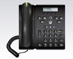 Black PBX Telephone
