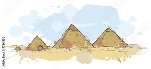 Renkli Sanatsal Mısır Piramitleri Stok Görseller Ve Telifsiz Vektör