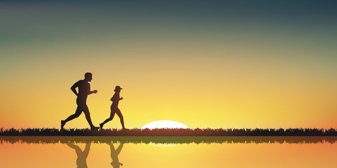 Paysage Jogging-Couche de soleil