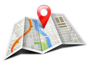 Fototapeta GPS Navigation & Map obraz