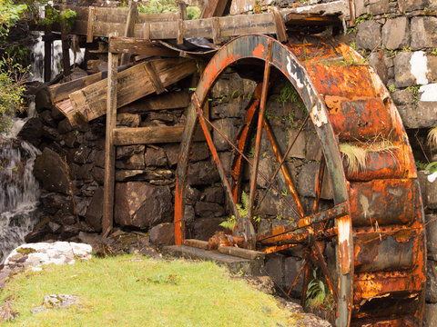 Old disused watermill at Glendale, Isle of Skye, Inner Hebrides, Scotland, UK