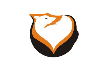 wolves abstract logo