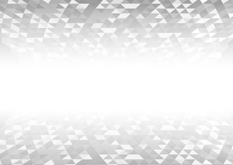 Vector : Abstract gray and white triangle background