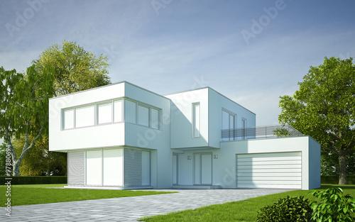 Haus modern Zeichnung\