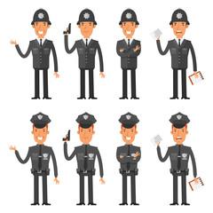 Set characters policeman