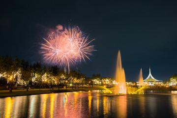 Fireworks in KING RAMA 9