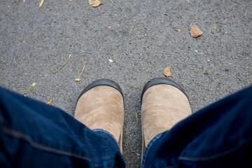 Shoes standing on the floor