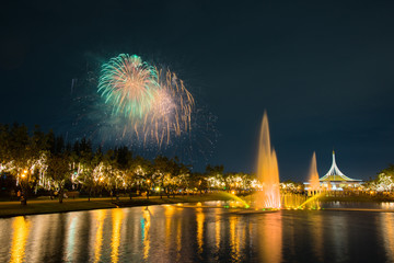 Fireworks in KING RAMA 9 park