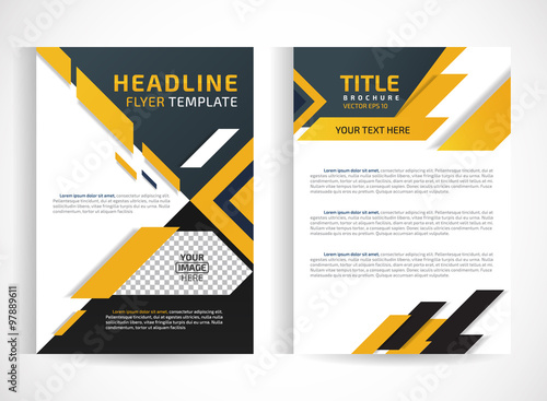 flyer brochure design template abstract.Editable site for business ...