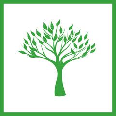 Illustration green tree.
