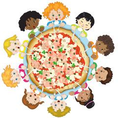 Children with Pizza