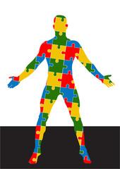 puzzle human body