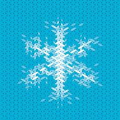 christmas card with snowflake element