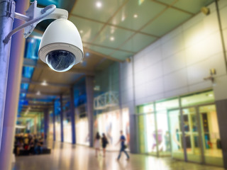 Surveillance Security Camera or CCTV in shopping mall