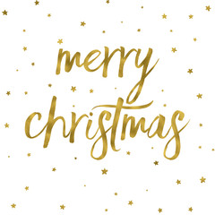 Gold effect Merry Christmas background