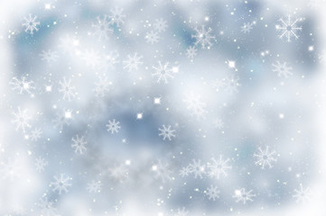 Sparkly Christmas background with snowflakes