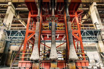 Industrial Metallurgical equipment scene in steel mill