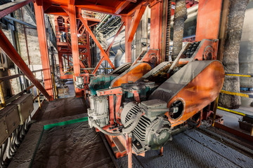 Industrial motor driven equipment scene in steel mill