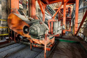 Türaufkleber Schiff Industrial motor driven equipment scene in steel mill