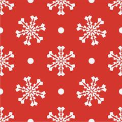 Red seamless snowflake pattern. Vector illustratiom EPS10