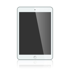 Black business tablet isolated on white background vector