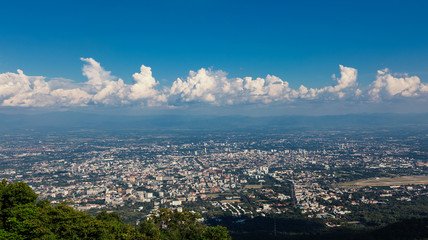 Views of Chiang Mai in northern Thailand with its airport.