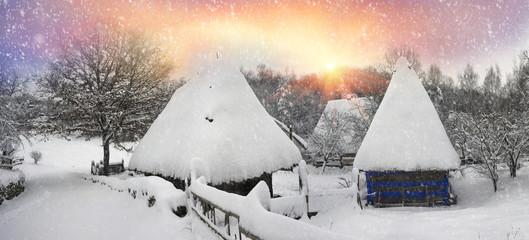 Snowfall in Pirogovo