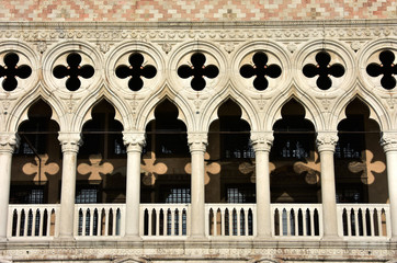 Typical gothic arch in Venice