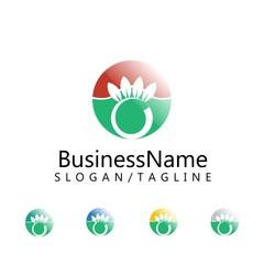 plants vector logo icon