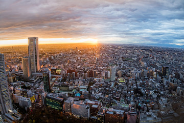 Deurstickers Tokio 東京新宿からの風景 Building group of shinjuku, Tokyo, Japan