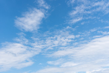 Clouds with blue sky background