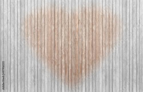 panneau de lames de bois brut dénaturé forme coeur  Arkivfoton och  ~ Panneau Bois Brut