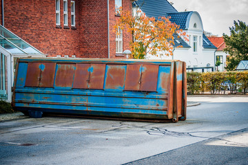 Large container on the street