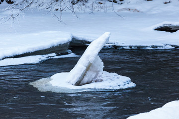 River with an Ice Floe