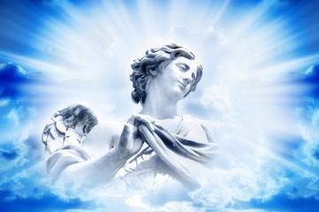 Angel in divine light