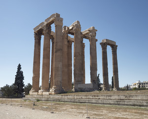 Athens Greece, olympian Zeus ancient temple columns