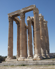 Athens Greece, olympian Zeus ancient temple columns
