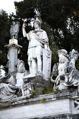 Fountain of Dea di Roma in Roma, Italy