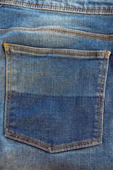 Blue jeans pocket texture