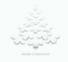 Creative White Christmas Tree. Vector Illustration.