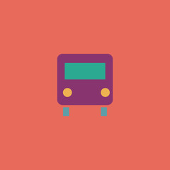 Bus icon, vector illustration. Flat design style