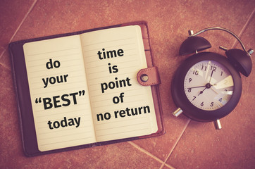 """Inspiration quote : """"Do your best today"""""""