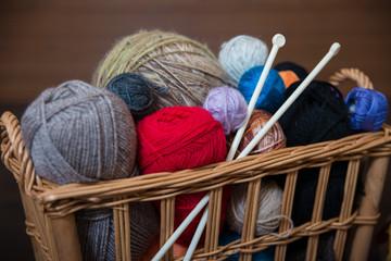 Handmade knitted things using knitting needles and crochet