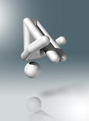 Gymnastics Trampoline 3D symbol, Olympic sports